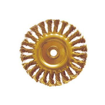 桥防 防爆扭丝轮刷,磷铜,合金Φ125*15mm,289-1002GP
