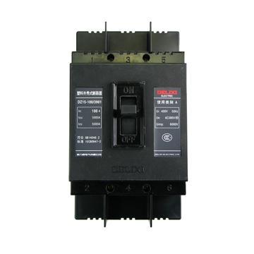 德力西 漏电断路器,DZ15-100 3901 100A,DZ151001003