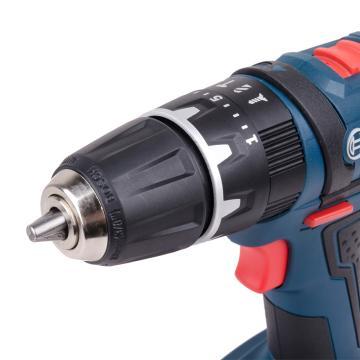 博世充电式冲击钻,18V锂电池 夹持10mm,GSB 18-2-LI,06019D2381