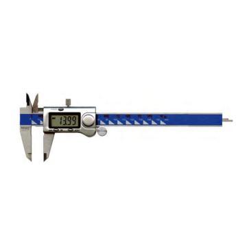 """VOGEL 金属外壳数显游标卡尺,200mm/8"""",带滚轮(圆杆),20 20499"""