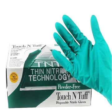 Ansell 92-600-M Touch N Tuff® 一次性丁腈手套,无粉,100只/盒