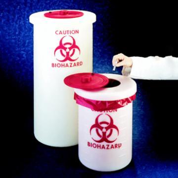生物危险废品容器,聚丙烯,19L,5加仑容量