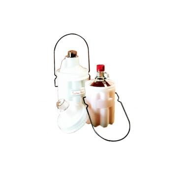 NALGENE安全试剂瓶搬运篮,低密度聚乙烯;聚碳酸酯盖;环氧树脂涂层手柄,4L容量