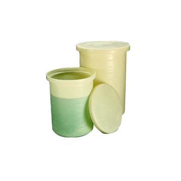 NALGENE带盖的轻型圆筒罐,高密度聚乙烯,5加仑容量