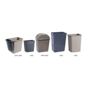 特耐适(Trust)垃圾桶,大型垃圾桶,39L,1244 灰色