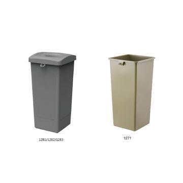 垃圾桶,Trust方形垃圾桶, 87L  米黄色 含盖