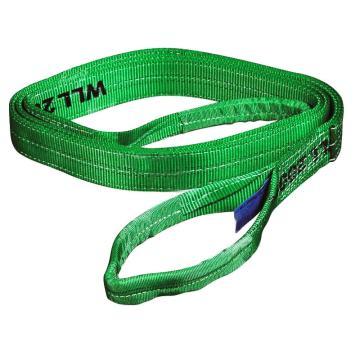 扁吊带,扁平吊环吊带, 2T×1m 绿色