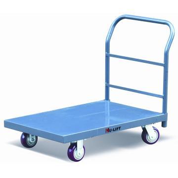 重载型大台面铁平板推车,额定载重量(kg):900,台面尺寸(mm):1220*610