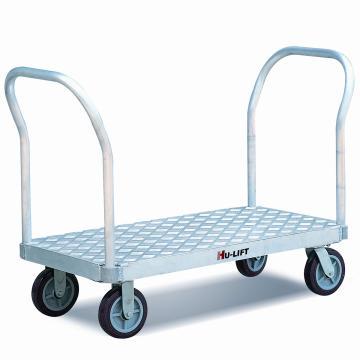 重载型铝制平板手推车,额定载重量(kg):900,台面尺寸(mm):915*610