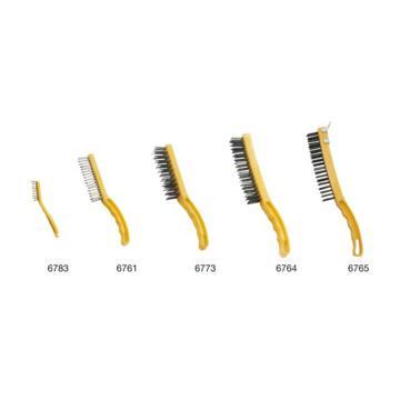 特耐适(Trust)钢丝刷,不锈钢丝,6761 黄黑色
