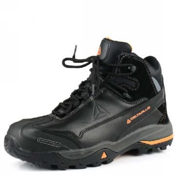 代尔塔 TREK WORK系列S3无金属高帮安全鞋,防砸防刺穿防静电,42,301336
