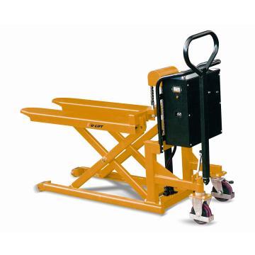 虎力 电动剪式升高液压搬运(平台)车,载重1T,货叉宽度526mm长度1115mm