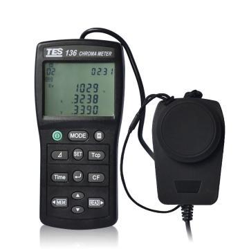 泰仕色温色度计,TES-136