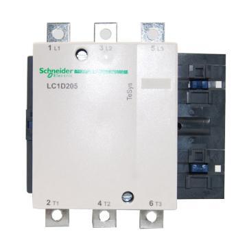 施耐德 交流线圈接触器,LC1D205Q5C,205A,380V,三极