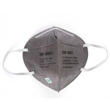 3M 9021折叠式防护口罩,灰色,精装,耳带式,50个/盒