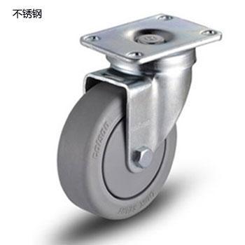 100聚氨酯不锈钢底板型活动脚轮,轴承 特尔灵不锈钢轴套