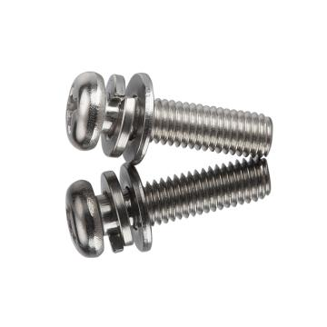 西域/EHSY 十字槽盘头三组合螺丝,不锈钢304/A2,M4*10,200个/包