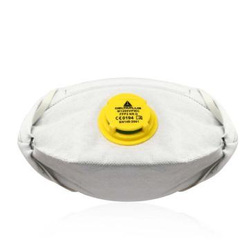 代尔塔 活性炭P2鸭嘴带阀口罩,104104(10个/盒)