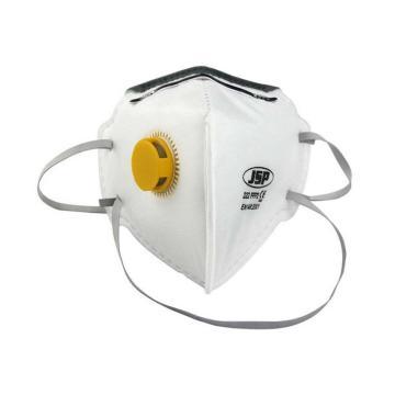 JSP 222V FFP2/KN95折叠式带阀防尘口罩,10个/盒