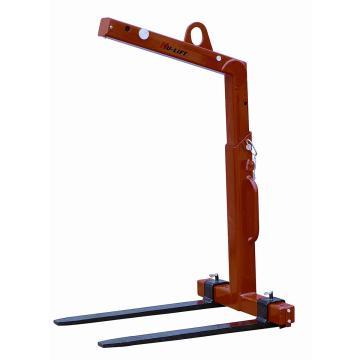 起重货叉,工作载荷(T):1,可调货叉宽度(mm):350-900,挂钩高度(mm):1420-1920