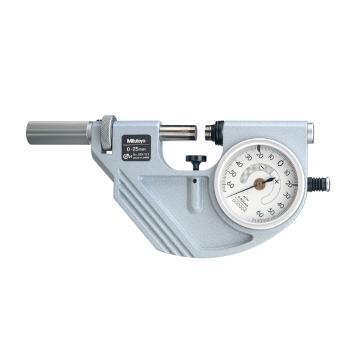 三丰 带表杠杆千分尺,快速夹持型 0-25mm,523-121