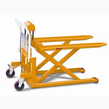 虎力 脚踏剪式升高液压搬运(平台)车,载重500kg,货叉宽度690mm长,度1115mm