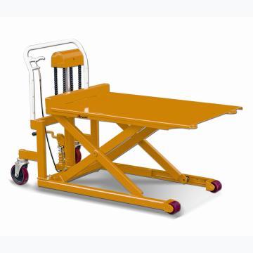 虎力 脚踏剪式升高液压平台车,载重500kg,平台宽度538mm长度1115mm