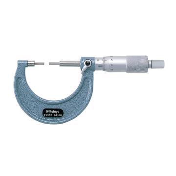 三丰 花键千分尺,机械式 0-25mm 测砧直径3mm 长10mm,111-115