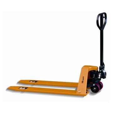 低放型手动液压搬运车,2T  680×1200mm 聚氨酯双轮/大轮 黄色
