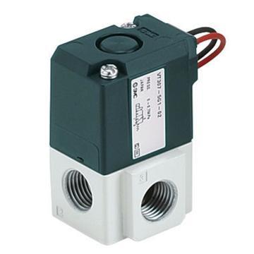 "SMC 3通电磁阀,直动式,直接出线式(300mm),DC24,Rc1/8"",高压型(1MPa),VT307K-5G1-01"