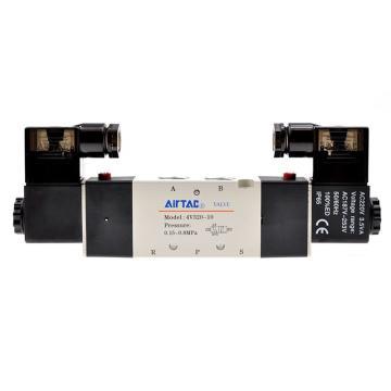 亚德客AirTAC 双控5通电磁阀,AC220V,4V320-10-A
