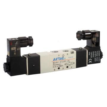 亚德客双控封闭型5通电磁阀,DC24V,4V130C-06-B
