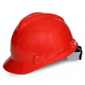 梅思安MSA 安全帽,10172904,V-Gard PE标准型安全帽 红 超爱戴帽衬 D型下颏带