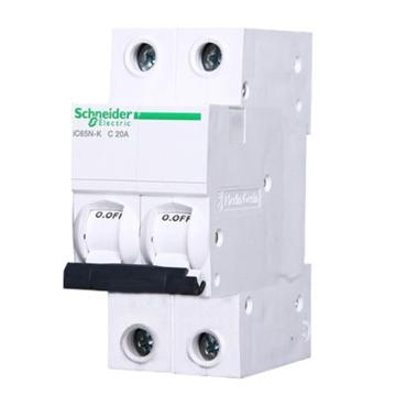 施耐德 微型断路器,iC65N-K 2P C20A,A9K58220