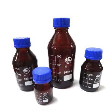 蜀牛蓝盖试剂瓶(棕色),耐高温100℃,500ml