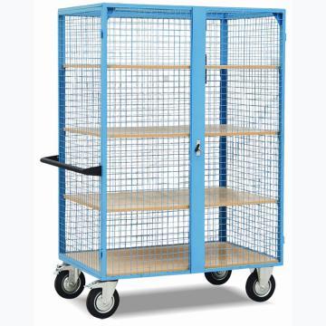 网格状搁板架推车,承重:500kg,台板尺寸:1150mm×750mm