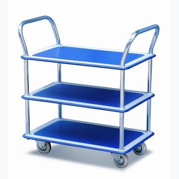 重型钢制平板推车,额定载重量(kg):120,三层