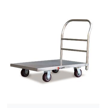 重载型不锈钢平板推车,载重500kg,台面尺寸915*610mm,配PU轮