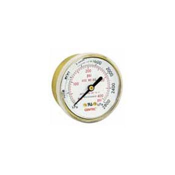 """捷锐减压器用压力表GR20B-400,2""""轴向,400psi,1/4""""NPT"""