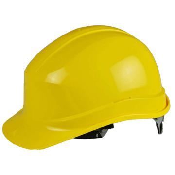代尔塔102011 PP绝缘安全帽,黄(不含下额带,推荐下颚带型号:102021)