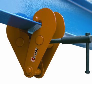 钢轨夹钳,额载:2000kg,适用工字梁尺寸:75-230mm
