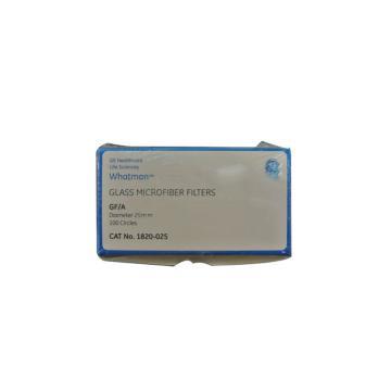Whatman玻璃微纤维滤纸(无粘合剂),GF/A,2.5CM,100/PK