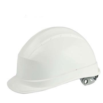 代尔塔 102008-BC 抗紫外线安全帽,白,旋钮式(不含下额带,推荐下颚带型号:102021)
