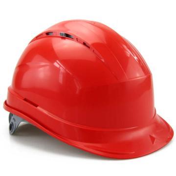 代尔塔DELTAPLUS 安全帽,102012-RO,抗紫外线安全帽 红 插片式(不含下额带)