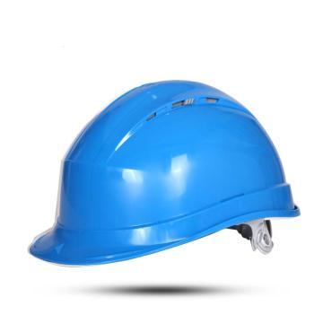 代尔塔 102012-BL 抗紫外线安全帽,蓝,插片式(不含下额带,推荐下颚带型号:102021)