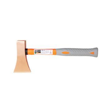 桥防 防爆装柄双刃斧,铍青铜,82*145*340mm,196-1002BE