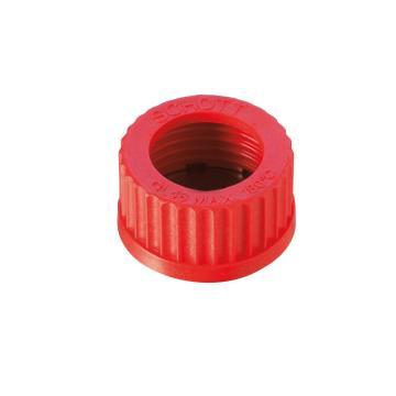 顶开孔螺旋盖,PBT材质,红色,GL 14