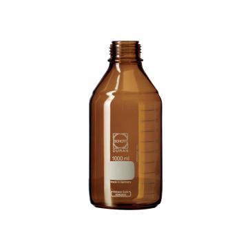 肖特棕色试剂瓶,1000ml,不含盖,需另配,盖子型号:LAB998