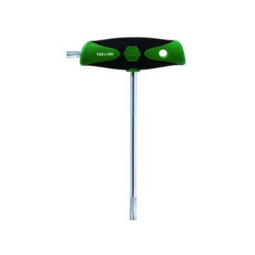 威汉带侧起子杆的星型T柄扳手, T10×100,26172
