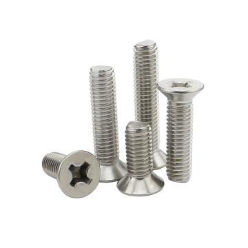 西域/EHSY ANSI B18.6.3F 英美制十字沉头机螺钉,不锈钢304/A2,1/4-20*1/4